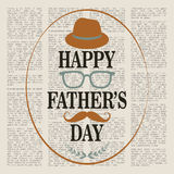 Fathers. Happy Father's Day in retro style. Vector illustration Royalty Free Stock Image