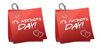 Fathers and mothers day Royalty Free Stock Images