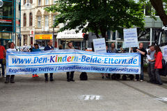 Fathers' Rights Demonstration in Cologne Royalty Free Stock Images