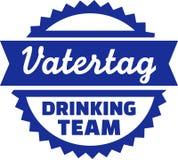 Fathersday, das Team German trinkt lizenzfreie abbildung