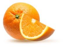 Fatia alaranjada do fruto foto de stock