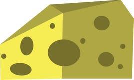 Fatia amarela do queijo no vetor Imagem de Stock