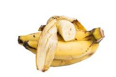 Fatia da banana no fundo branco fotografia de stock