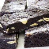 Fatia da brownie Fotografia de Stock