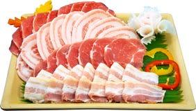 Fatia da carne crua imagens de stock