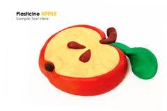 Fatia da maçã da massa de modelar Imagem de Stock Royalty Free