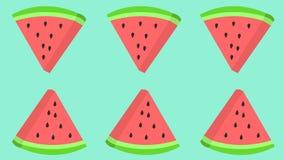 Fatia da melancia com as sementes que repetem o teste padrão ilustração royalty free