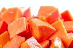 Fatia da papaia Foto de Stock Royalty Free