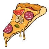 Fatia da pizza Fotos de Stock Royalty Free