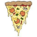 Fatia da pizza do gotejamento Fotografia de Stock Royalty Free