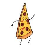 Fatia da pizza dos desenhos animados ilustração do vetor