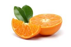 Fatia da tangerina Fotografia de Stock Royalty Free