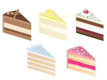Fatia da torta Imagens de Stock Royalty Free