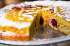 Fatia da torta da cereja Imagem de Stock Royalty Free