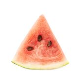 Fatia dada forma triângulo da melancia isolada Fotos de Stock