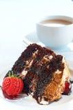 Fatia de bolo da floresta preta Imagem de Stock Royalty Free
