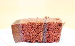 Fatia de bolo de chocolate Fotografia de Stock