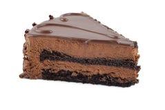 Fatia de bolo de chocolate Fotos de Stock Royalty Free