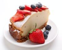 Fatia de bolo de queijo Foto de Stock Royalty Free