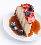 Fatia de bolo de queijo Fotos de Stock Royalty Free