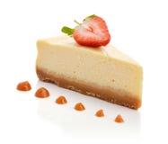 Fatia de bolo de queijo imagem de stock royalty free