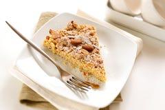 Fatia de bolo italiano caseiro imagem de stock royalty free