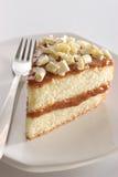 Fatia de bolo mergulhado imagens de stock royalty free