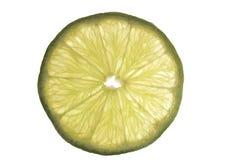 Fatia de cal verde fotografia de stock