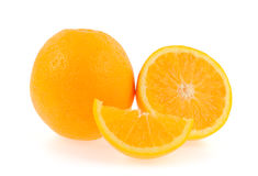 Fatia de laranja fresca Imagem de Stock Royalty Free