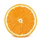 Fatia de laranja no fundo branco imagem de stock