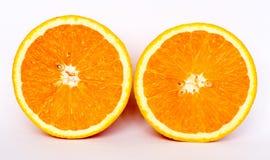 Fatia de laranja no fundo branco Imagem de Stock Royalty Free