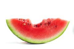 Fatia de melancia mordida Fotos de Stock