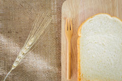 Fatia de pão Foto de Stock