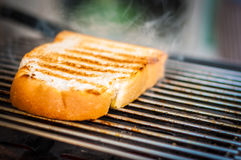 Fatia de pão brindada Foto de Stock