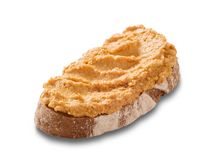 Fatia de pão e de propagação Foto de Stock Royalty Free