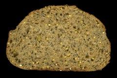 Fatia de pão inteiro da grão imagens de stock