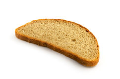 Fatia de pão isolada no branco Foto de Stock Royalty Free