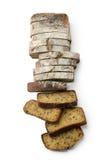 Fatia de pão marrom Fotos de Stock