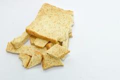 Fatia de pão no fundo branco Imagem de Stock Royalty Free