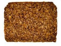 Fatia de pão preto alemão - Schwarzbrot imagem de stock royalty free