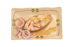 Fatia de peixes cozinhados foto de stock royalty free