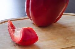 Fatia de pimenta doce no primeiro plano Foto de Stock