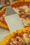 Fatia de pizza Fotografia de Stock