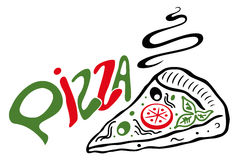 Fatia de pizza grande Imagens de Stock Royalty Free