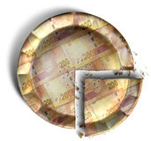 Fatia de sul - africano Rand Money Pie Imagem de Stock