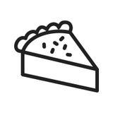 Fatia de torta Fotografia de Stock Royalty Free