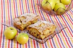 Fatia de torta caseiro saboroso Imagens de Stock Royalty Free