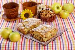 Fatia de torta caseiro saboroso Fotografia de Stock