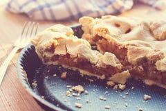 Fatia de torta de maçã na bandeja de cozimento Fotos de Stock
