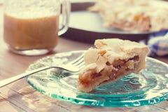 Fatia de torta de maçã na bandeja de cozimento Imagem de Stock